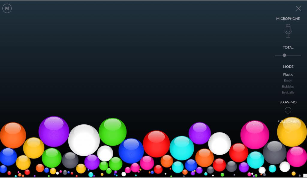 Bouncy Balls & Calmness Counter: Classroom Noise Monitor
