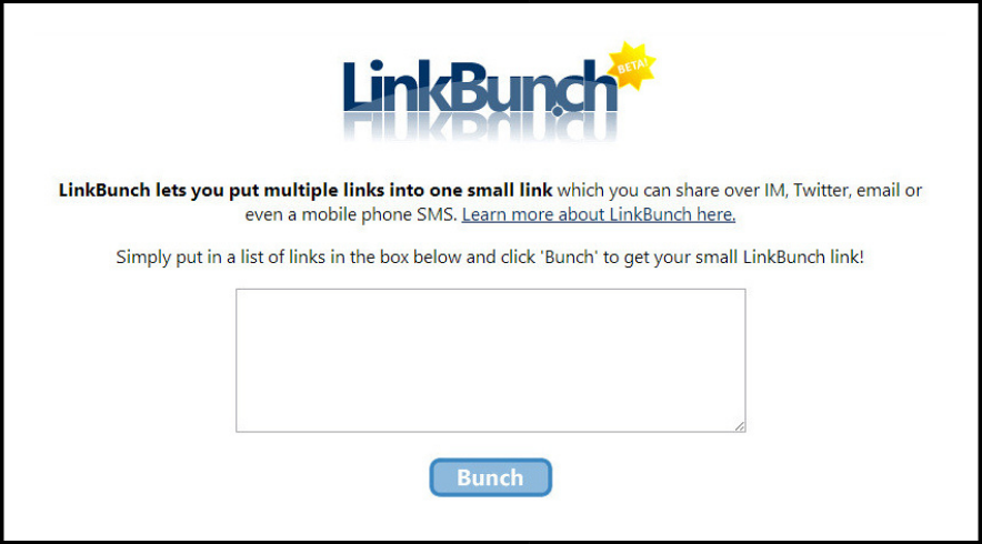 LinkBunch: Amazing Tool to Put Multiple Links Into 1 Link 1