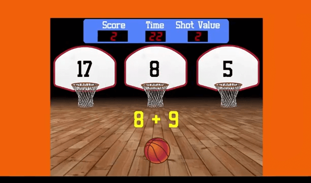 Shotclock Math Basketball Game