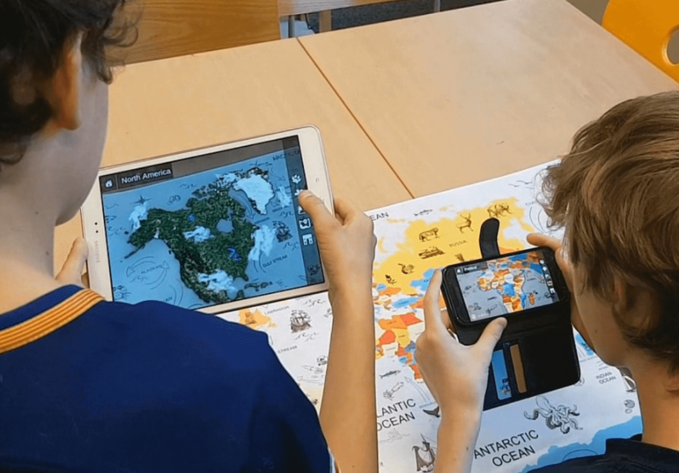 Cleverbooks Augmented Reality World Map