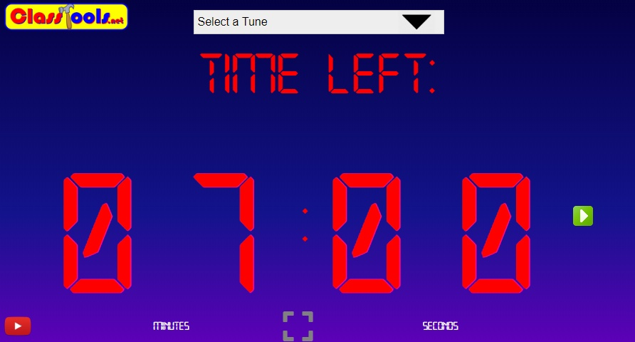 Classtools Countdown Timer: Classroom Timer