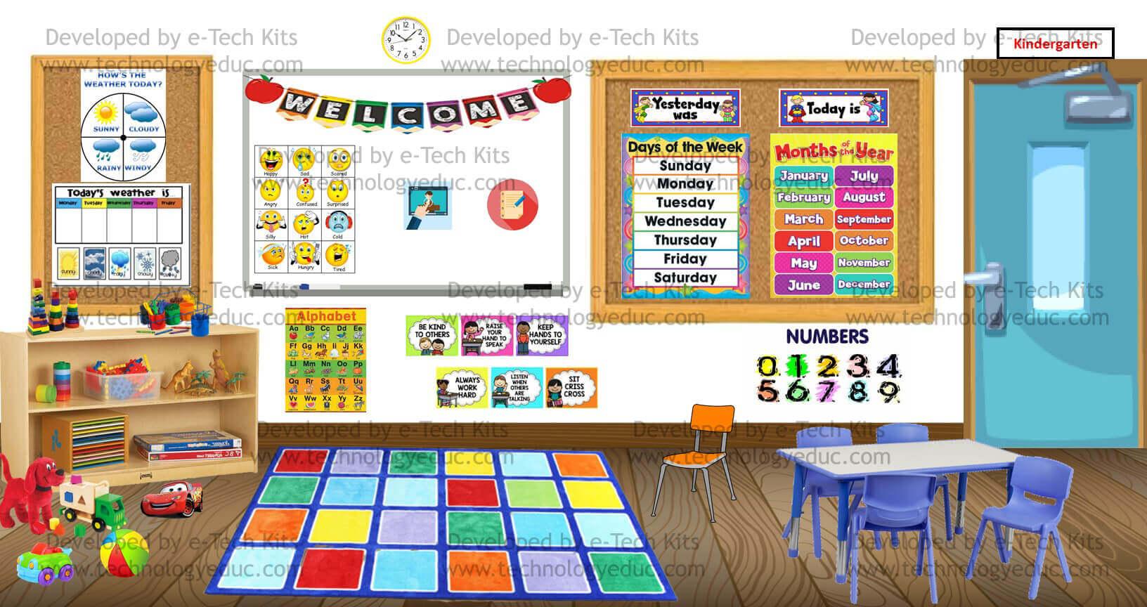 Bitmoji Preschool Classroom Template