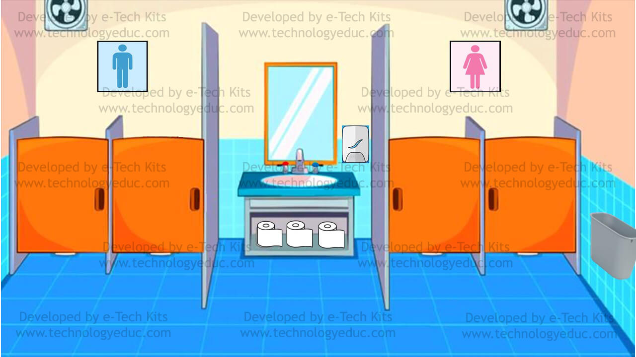 bitmoji bathroom template