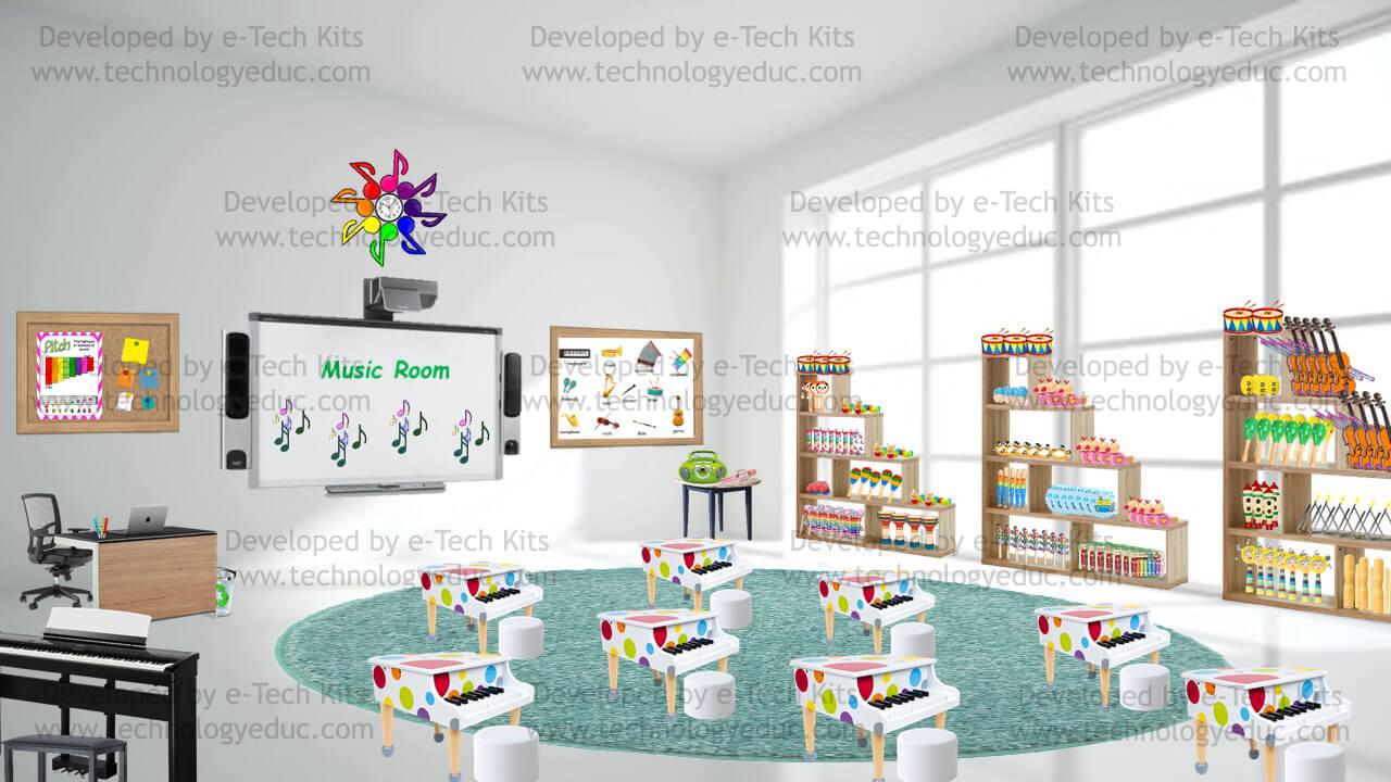 bitmoji music room template