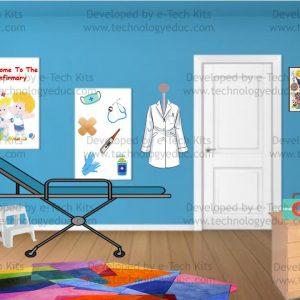 bitmoji infirmary room template