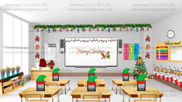 bitmoji christmas classroom
