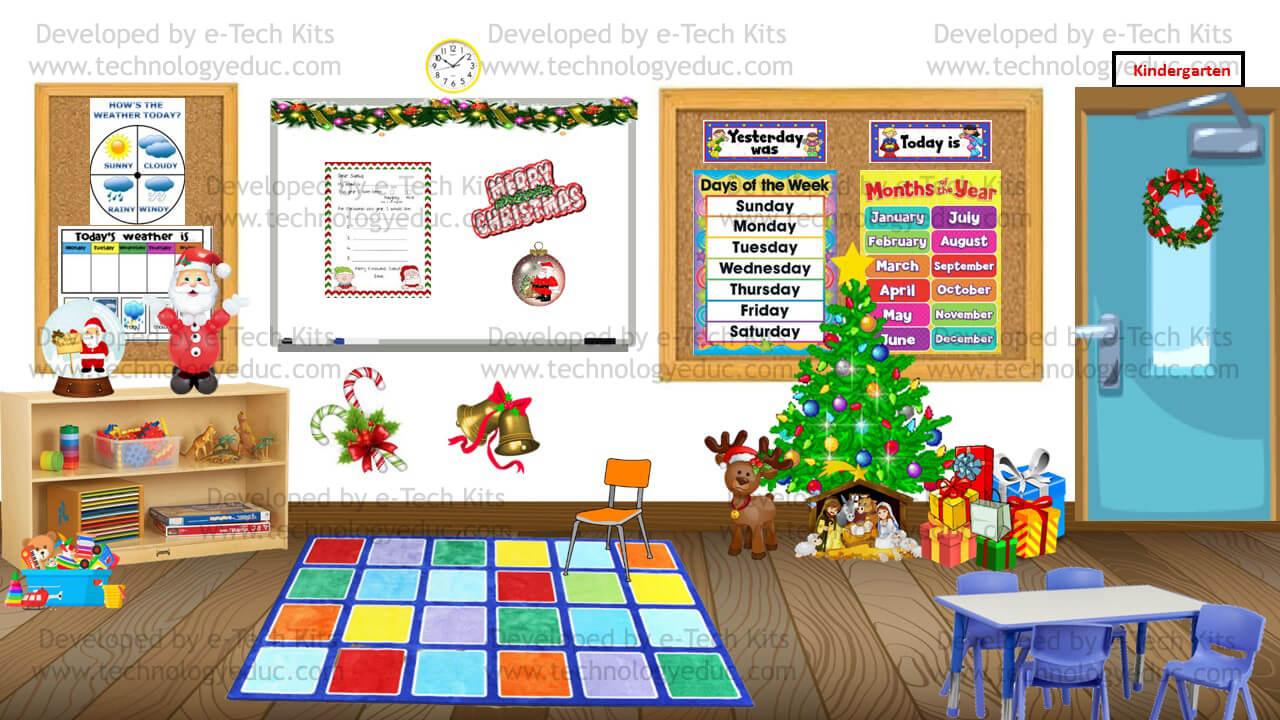 bitmoji christmas preschool classroom