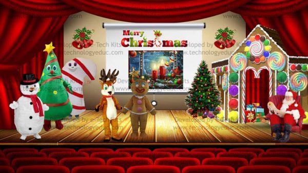 bitmoji christmas show template
