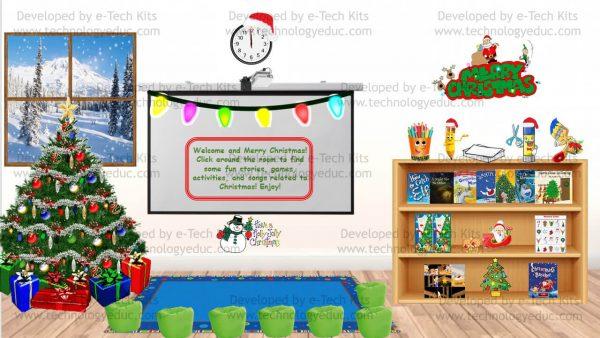 bitmoji christmas classroom template