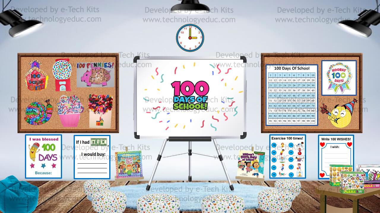 bitmoji 100 days of school template