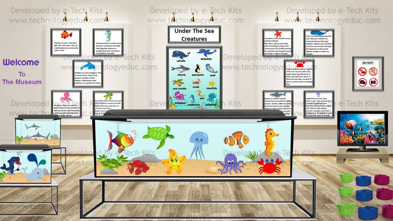 bitmoji sea animals template