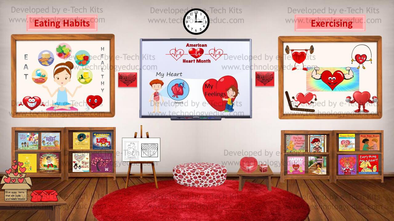 bitmoji american heart month template