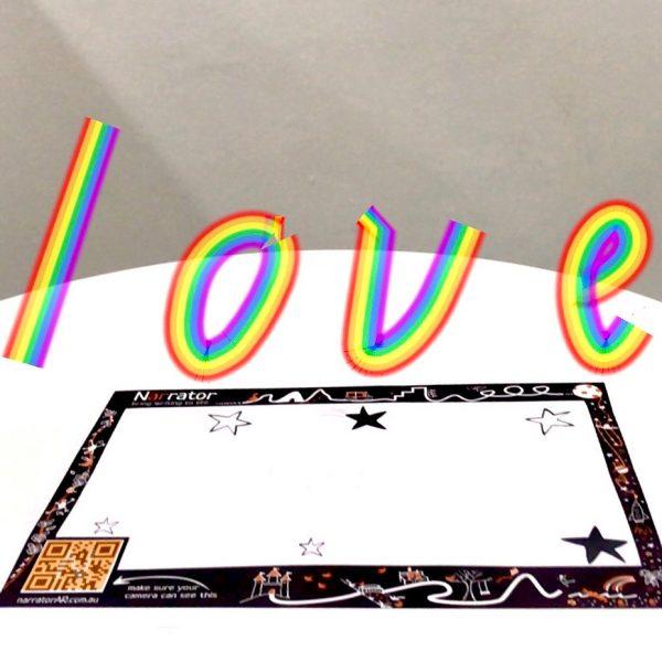 AR Valentine's Day card