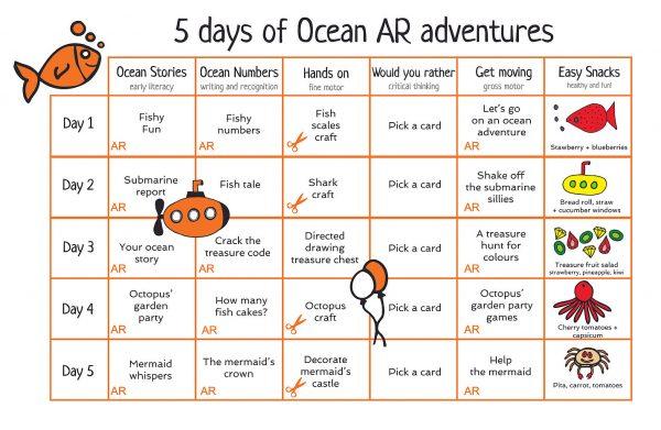 AR Adventure Ocean Stories Activity Pack