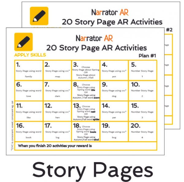 AR Story Pages Activity Book 1