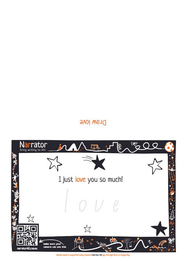 AR Valentine's Day card - I just love you so much! 1