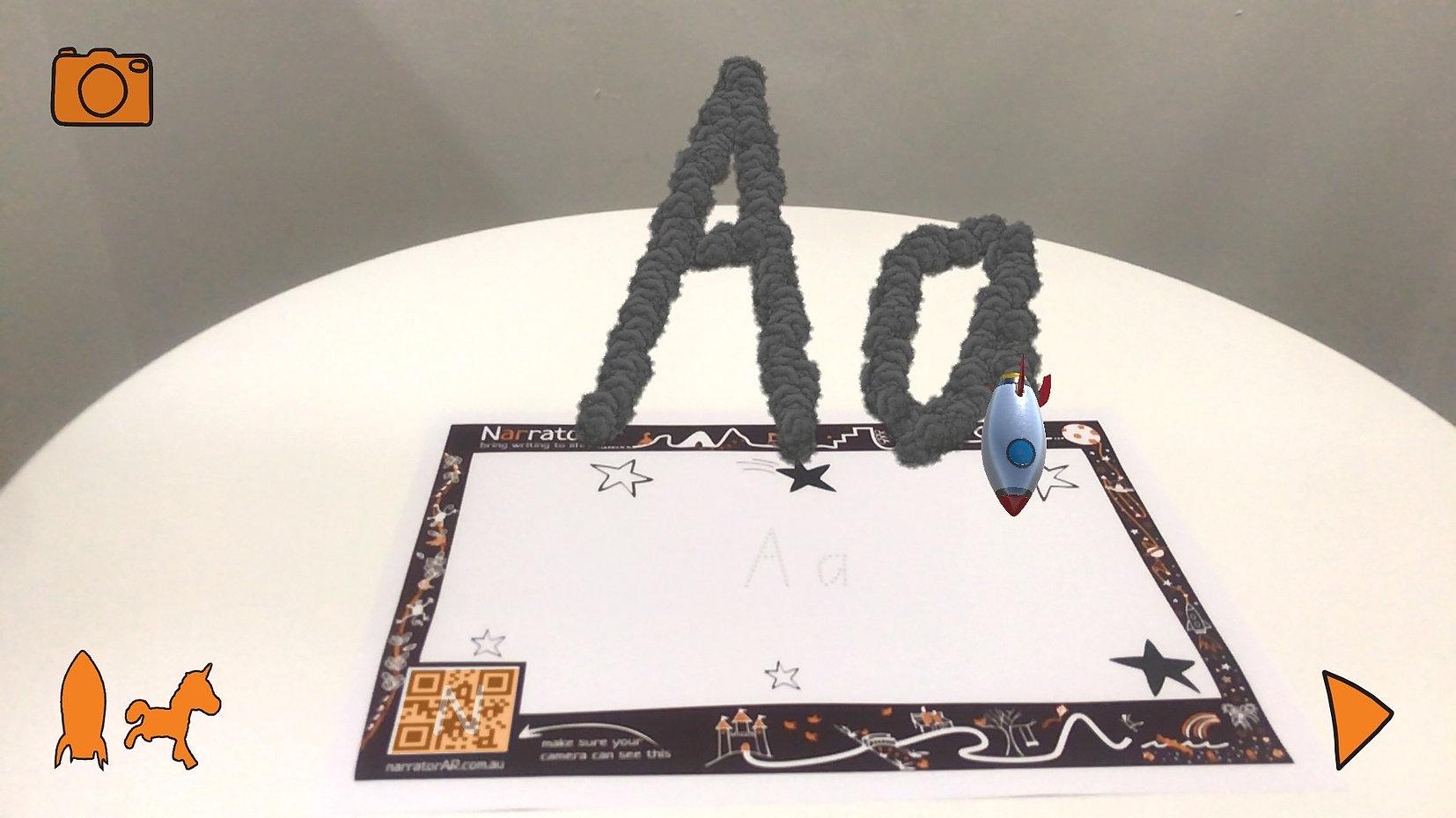 AR Write Letters Aa, Bb, Cc