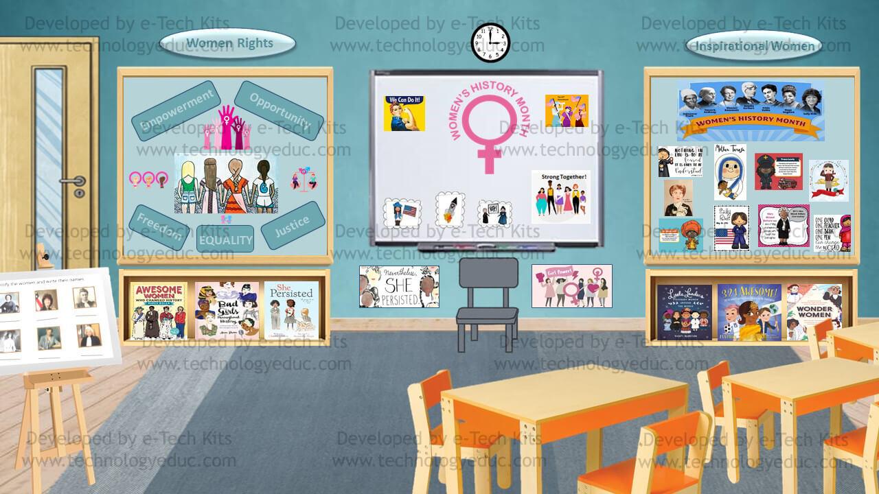 Bitmoji Women History Month Template