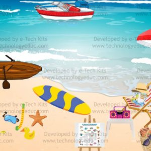 Bitmoji Beach Template