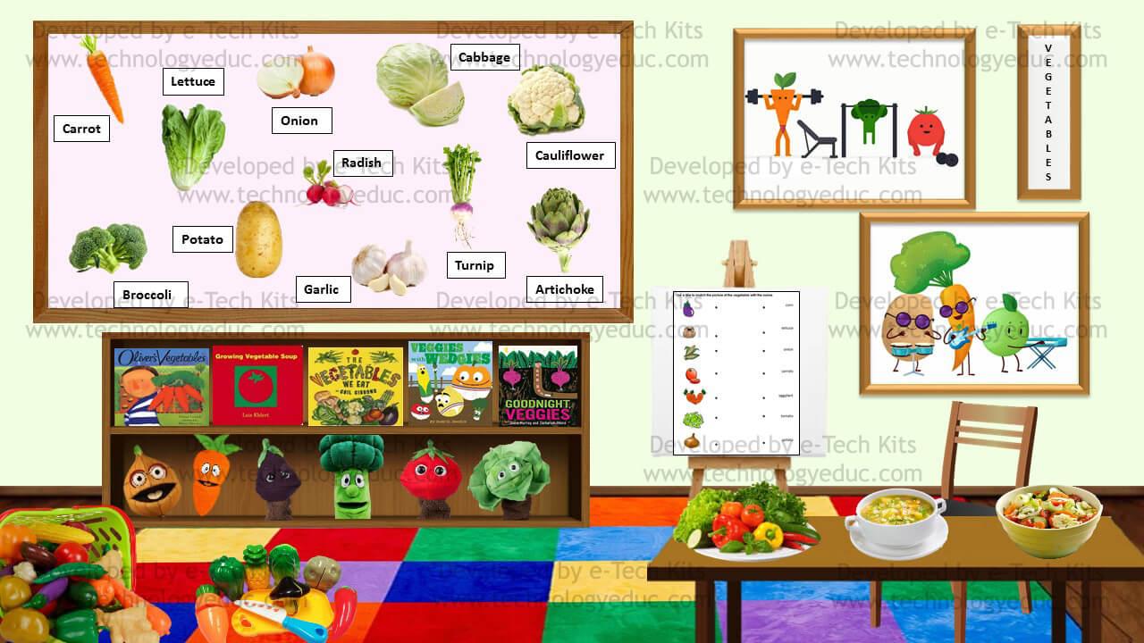Bitmoji Vegetables Template