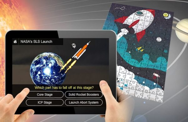 Augmented Reality Puzzle Space Missions and Engineering 1
