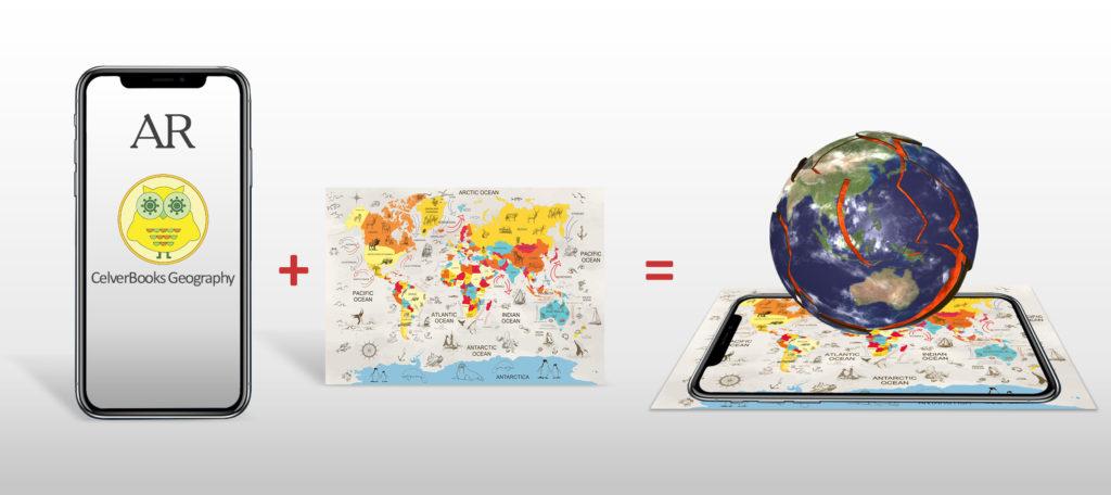 Augmented Reality World Map 3