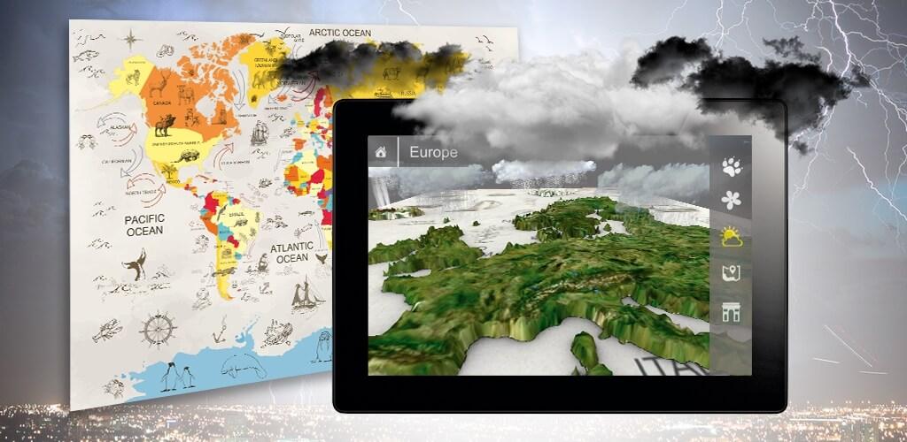 Augmented Reality World Map